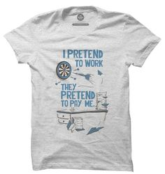 Pretend To Work T-Shirt | Buy Funny T-Shirts |The Souled Store