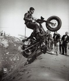 Old-school hill climbers. I'd have a hell of a time doing that on a modern dirt bike.