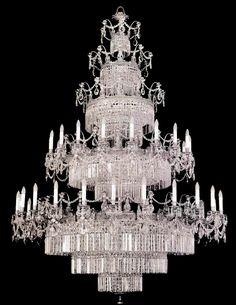 "the ""wedding cake"" chandelier"