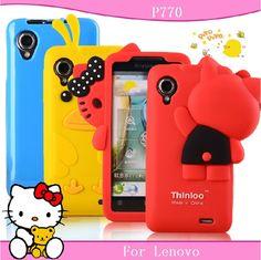 3D soft cartoon protector For Lenovo p700 mobile phone case cell phone case p700i p700 phone case phone case set soft