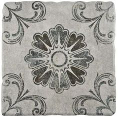 Merola Tile, Costa Cendra Decor Fleur 7-3/4 in. x 7-3/4 in. Ceramic Wall and Floor Tile (11.5 sq. ft. / case), FEB8CCD3 at The Home Depot - Mobile