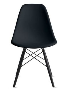 Furniture eames side chair with wooden dowel legs eames for Eames molded plastic dowel leg side chair