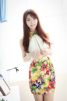 f1fa29901c Stylish Polo Collar Backless Splicing Floral Print Sleeveless Dress For  Women