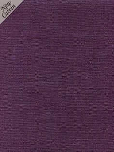 Calvin Fabrics - BENNET LINEN TEXTURE - AUBERGINE - plum colored 100% Belgian linen - contract rating: WYZENBEEK: 30,000 & NFPA 260/UFAC CLASS I
