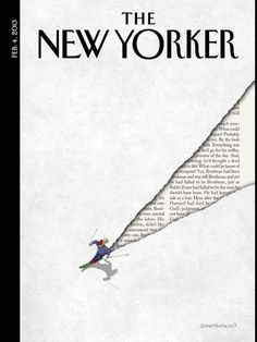 The New Yorker (US). I really like the use of negative space used here. I think the way it's just cut out where the skier has skied is really intriguing and creative.