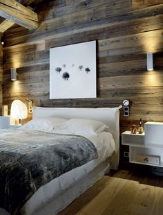 Отделка комнаты деревом меховые аксессуары металлических оттенков - главные атрибуты альпийского стиля в интерьере
