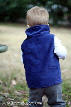 Collared Boy Vest Tutorial