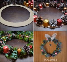 20 surprising ways to reuse small coffee pods - Tips and Tricks - Tips and Crafts Christmas Makes, Christmas Wreaths, Christmas Crafts, Merry Christmas, Christmas Decorations, Xmas, Holiday Decor, Navidad Diy, Coffee Pods