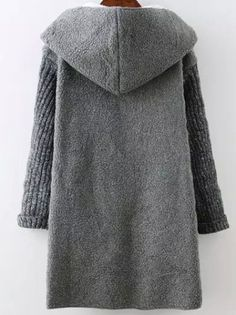 Shop Grey Hooded Long Sleeve Pockets Sweater Coat online. SheIn offers Grey Hooded Long Sleeve Pockets Sweater Coat & more to fit your fashionable needs.