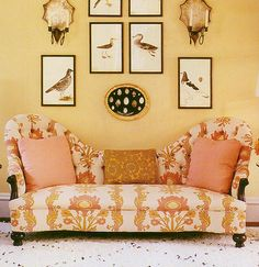 Quadrille Henriot Floral  sofa by Tom Scheerer