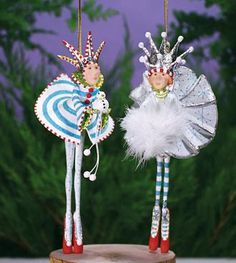 Snow King & Snow Queen Ornaments Patience Brewster Krinkles