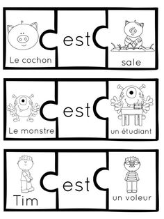 Etre et avoir // French Sentence Building Puzzles with the verbs Etre and Avoir French Sentences, French Verbs, French Grammar, French Teaching Resources, Teaching French, Teaching Spanish, Learning French For Kids, Spanish Language Learning, French Lessons For Beginners