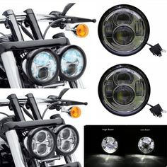 98.70$  Watch now - 5'' harley led headlight Daymaker LED Headlamps Fat Bob Head Light for Fat Bob Headlight  #magazineonlinebeautiful