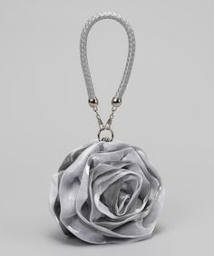 Take a look at this Silver Rosebud Purse by Ella's Tutus on #zulily today!