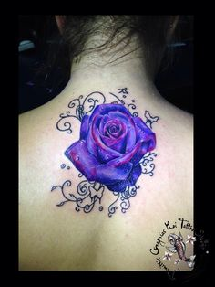 Purple rose by dimitris grapsias koi tattoo