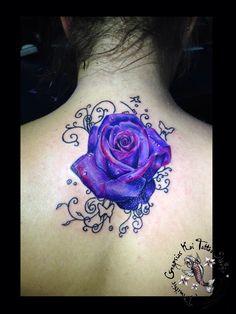 Purple rose by dimitris grapsias koi tattoo