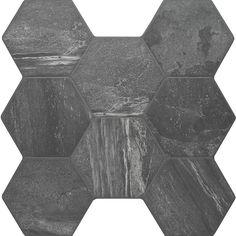 Eclipse stone hexagon tiles