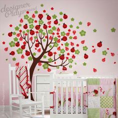 Ladybug Tree Could Paint Something Similar For Cheaper For A Wall