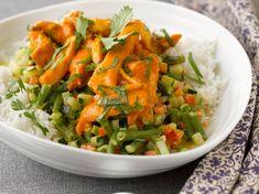 Curry vert de porc aux légumes