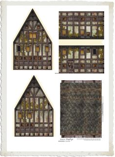 Decoupage Mnóstwo DOMKÓW do pobrania i drukowania Cardboard Paper, Paper Toys, Paper Crafts, Maquette Architecture, Paper Architecture, Halloween Miniatures, Dollhouse Miniatures, Dollhouse Interiors, Free Paper Models