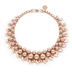 Ellen Conde Colette Rose Gold Necklace (€540) ❤ liked on Polyvore featuring jewelry, necklaces, rose gold, rose gold jewellery, pink gold necklace, pink gold jewelry, hand crafted jewelry and red gold necklace