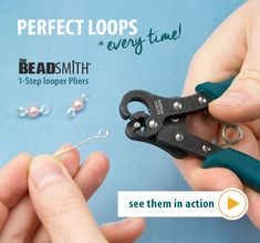 Perfect Loops with the Looper Pliers Speed up your beading process and get consistent simple loops with the looper pliers! You'll find three different sizes, including the Big Looper Plier that makes loops perfect for adding multiple jump Wire Wrapped Jewelry, Wire Jewelry, Jewelry Crafts, Beaded Jewelry, Handmade Jewelry, Gold Jewelry, Recycled Jewelry, Amber Jewelry, Diy Jewelry Tools