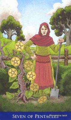 Seven of Pentacles ~ Llewellyn's Classic Tarot