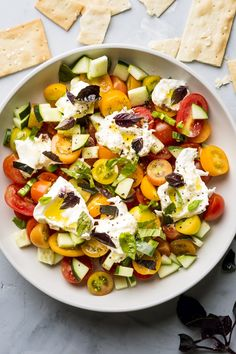 Spicy Cherry Tomato and Cucumber Salad with Basil | Kitchn