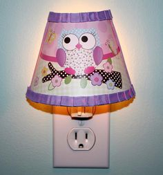 Pink and Purple Owl Girl Nature Forest Woodland by ToadAndLily, $25.00