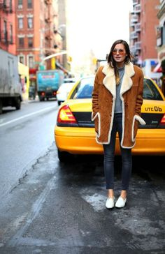 Shearling Coat Street Style Trend | StyleCaster