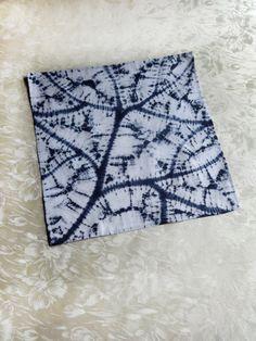 Pocket square Blue white shibori handkerchief Tie by WhisperOfSilk How To Tie Dye, How To Dye Fabric, Fabric Art, The Colour Of Magic, Bohemian Crafts, Shibori Techniques, Indigo Dye, Pocket Square, Quilting Designs