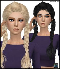 Simista: May 03F hairstyle retextured  - Sims 4 Hairs - http://sims4hairs.com/simista-may-03f-hairstyle-retextured/