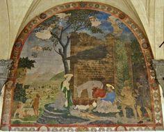 Alesso Baldovinetti - Natività - affresco - 1460 - Chiostrino dei voti - Chiesa Santissima Annunziata - Firenze