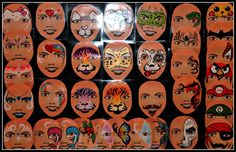 Fast faces board  (if anyone knows the original painter/designer please add to comments below) xx