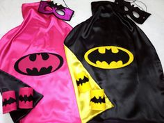 Brother Sister Matching Superhero Set Includes, Cape/Mask/Armbands for 2 Choose Superhero Batman BatGirl Wonderwoman etc Shared Birthday Parties, Sibling Birthday Parties, Birthday Themes For Boys, Twin Birthday, Brother And Sister Love, Niece And Nephew, Batman And Batgirl, Batman Tutu, Batgirl Party