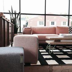 Muuto rest sofa + Elijah Neumann table + Hem poufs = lovely day at Forage.
