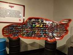 Disney/ Pixar die cast cars on display at Peterson Automotive Museum