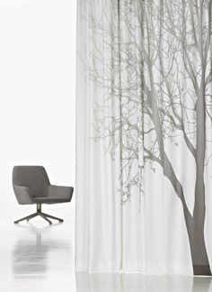 Nature inspired sheer fabrics.   Gordijn met een natuur print?