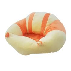 Buy this #Orange #& #Yellow #Plush #Baby #Chair is used for upright sitting position once baby can support their own head. It helps your little one to stabilize their back while they learn to sit. This chair wraps itself around the baby making it impossible for baby to fall forward. It has an anti-slip design making it is safer and more secure.