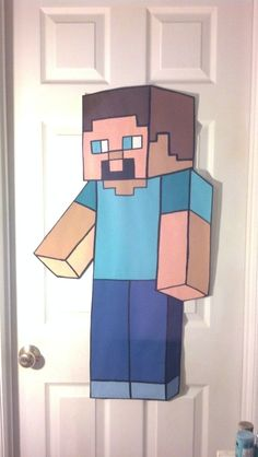MINECRAFT bedroom idea Hand Painted Murals You can find me here: https://www.etsy.com/shop/AllMuralsHandPainted?ref=listing-shop-header-item-count Handpainted HUGE MINECRAFT STEVE Original by AllMuralsHandPainted, $31.99