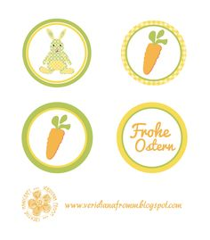 alles Karotte: Oster-Etiketten