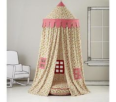 Love love love!  Kids Canopy: Floral Play Circus Tent