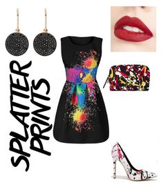 """""""Splatter Print"""" by milky-way-lover ❤ liked on Polyvore featuring MAC Cosmetics, Astley Clarke and Jouer"""