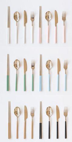 Flatware Set (Fork Spoon Knife chopsticks Set) Flatware Serving Set with Dinner Spoons, Dinner Knife and Dinner Forks