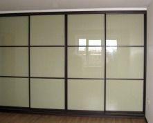 Шкафы-купе со стеклом: матовое или цветное   стеклянные двери