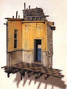 """Temple of Luxor"" - Michael McMillen, 1986 (painted wood & metal miniature wall construction)"