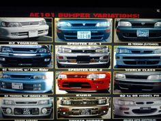 AE101 Front Bumper Types