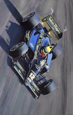 Ayrton Senna's Lotus Renault Turbo