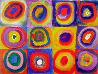 The Calvert Canvas: Adventures in Middle School Art!: After Kandinsky- LS Art Club Paintings