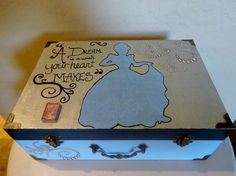 Hand Painted Disney Cinderella Decorative Jewelry Box #disney #cinderella #disneyprincess